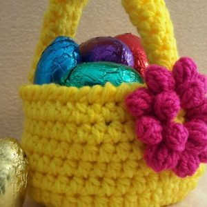 Spring / Easter Crochet Basket - Free Pattern And Video Tutorial