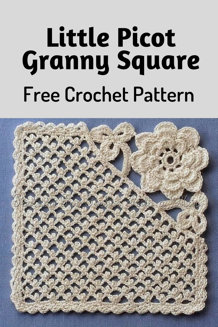 Little Picot Granny Square Is Really Unique And Amazing! [Crochet Diagram Pattern]