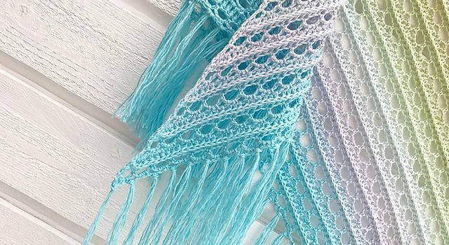 Beautiful Lacy Shawl Crochet Pattern In Pastel Colours Knit And