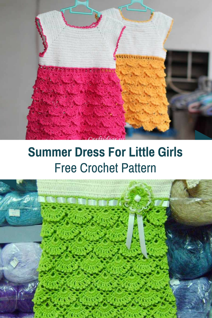 Crochet Summer Dress For Little Girls- Free Pattern