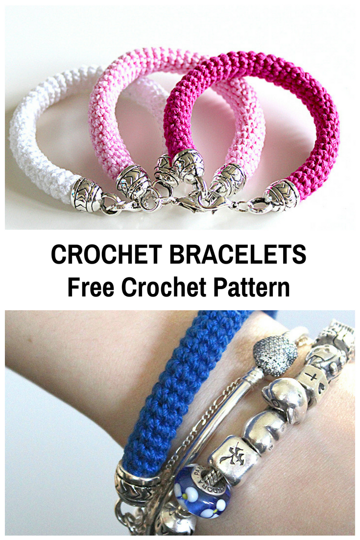 Simple And Elegant Crochet Bracelet Free Pattern