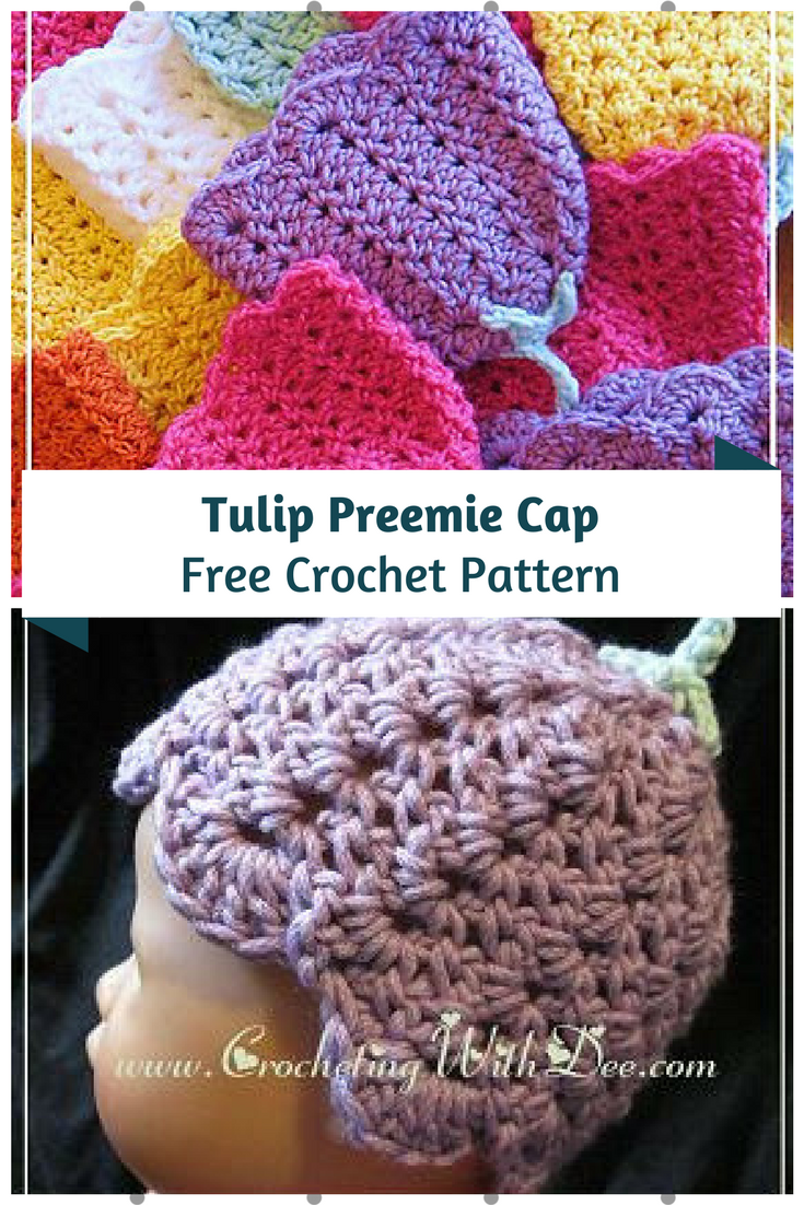 Tulip Preemie Cap Free Crochet Pattern -Preemie Hats You Can Crochet For Charity