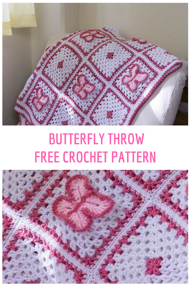 Crochet Butterfly Throw Free Pattern
