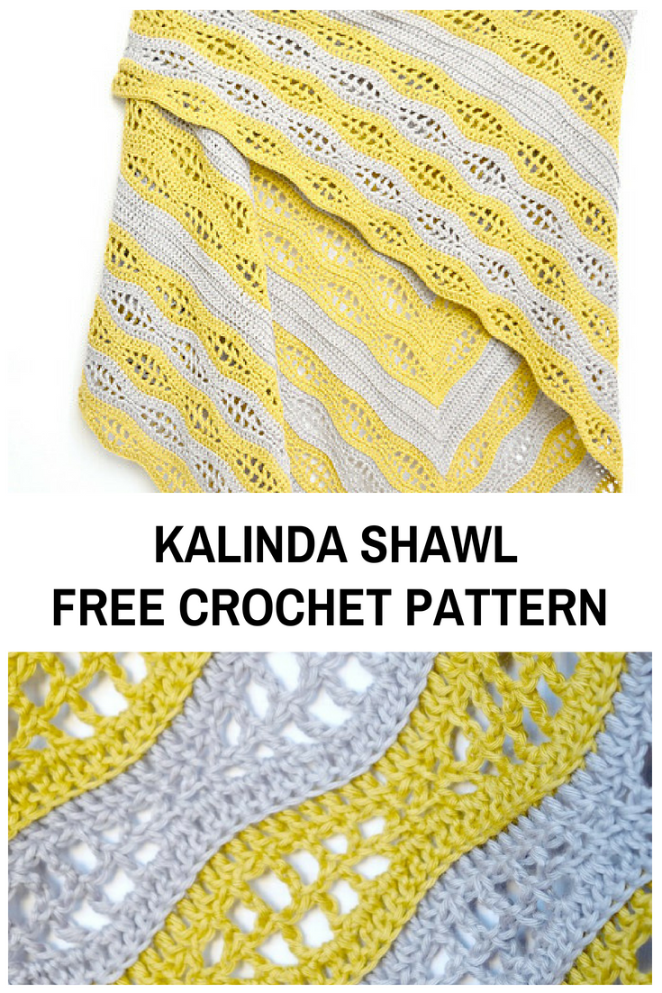 Triangular Crochet Shawl Pattern For Beginners - Knit And Crochet Daily