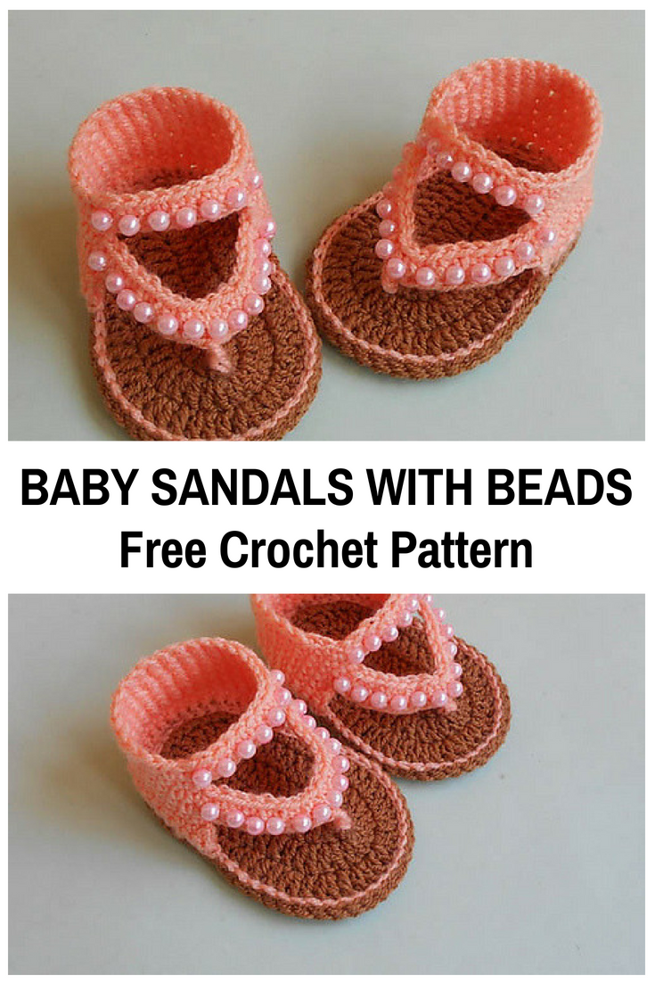 Crochet Baby Sandals With Beads Free Pattern