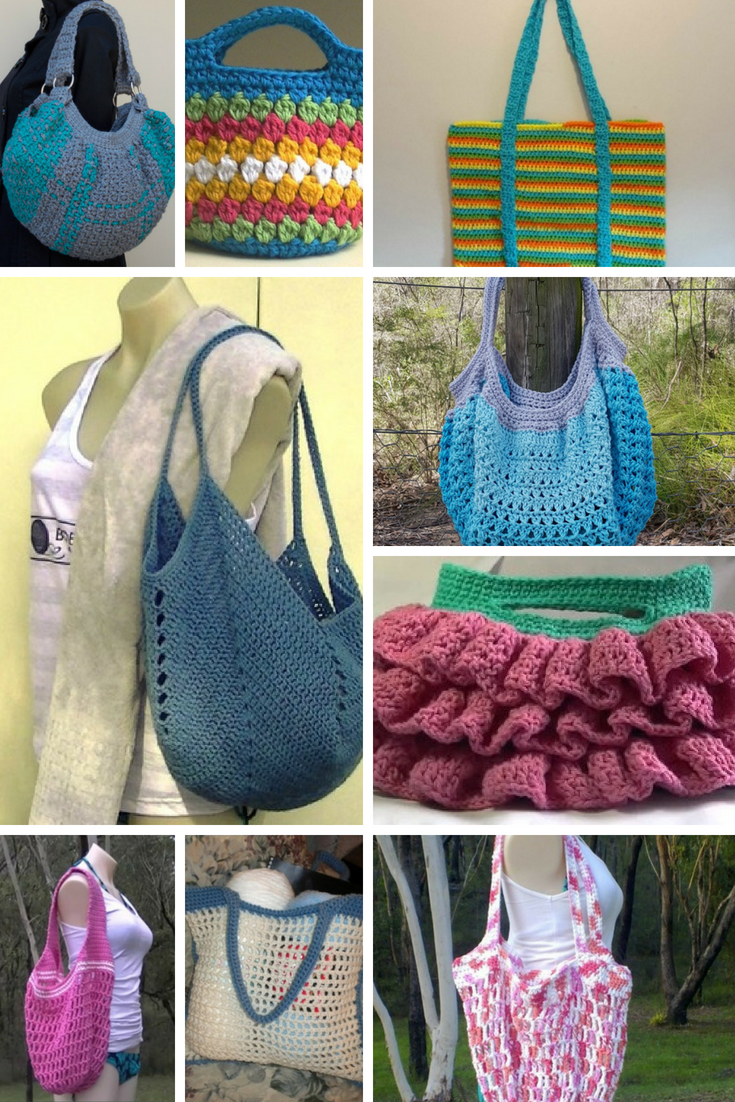 Crochet Bag Patterns -Free Patterns And Video Tutorials