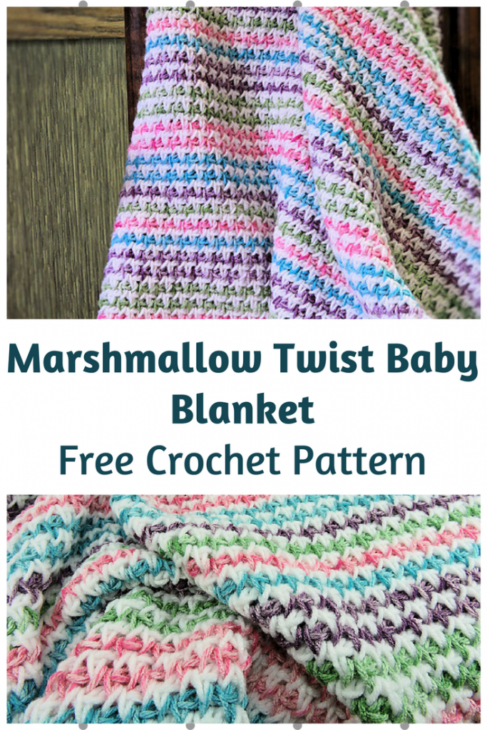 Superb Marshmallow Twist Baby Blanket [Free Pattern]