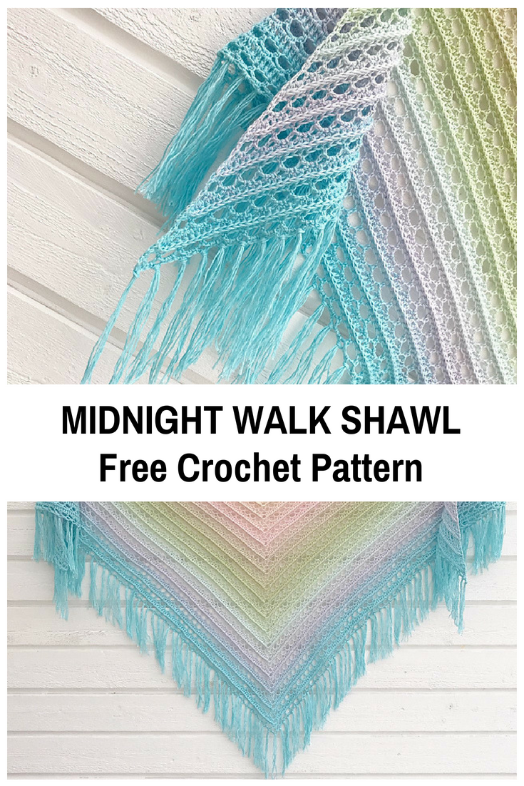 Beautiful Lacy Shawl Crochet Pattern In Pastel Colours