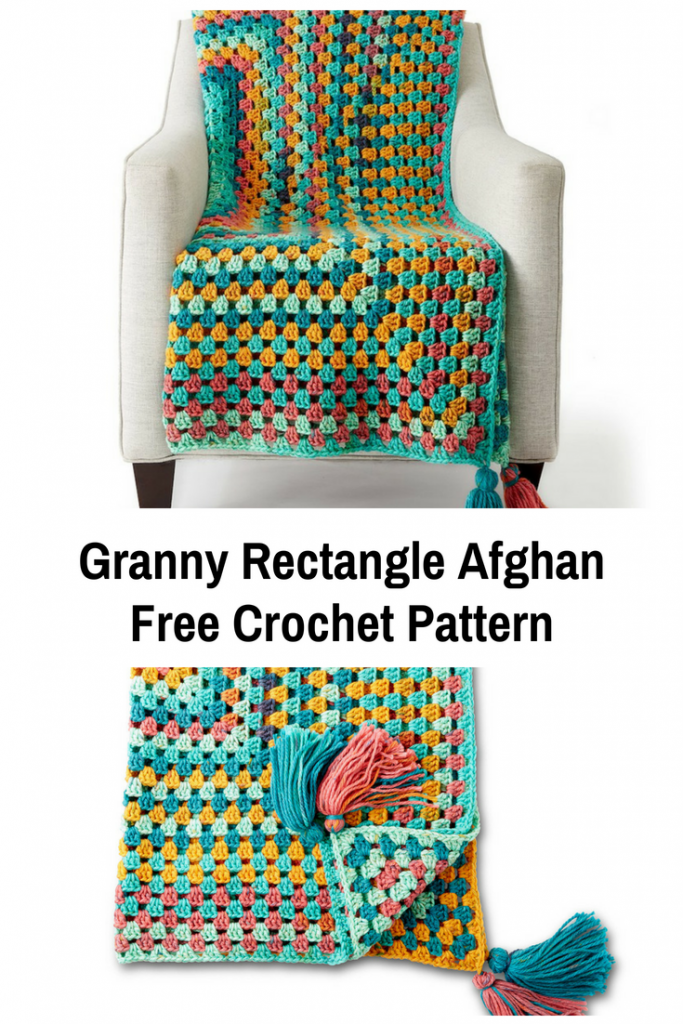 Easy Granny Rectangle Afghan Free Crochet Pattern
