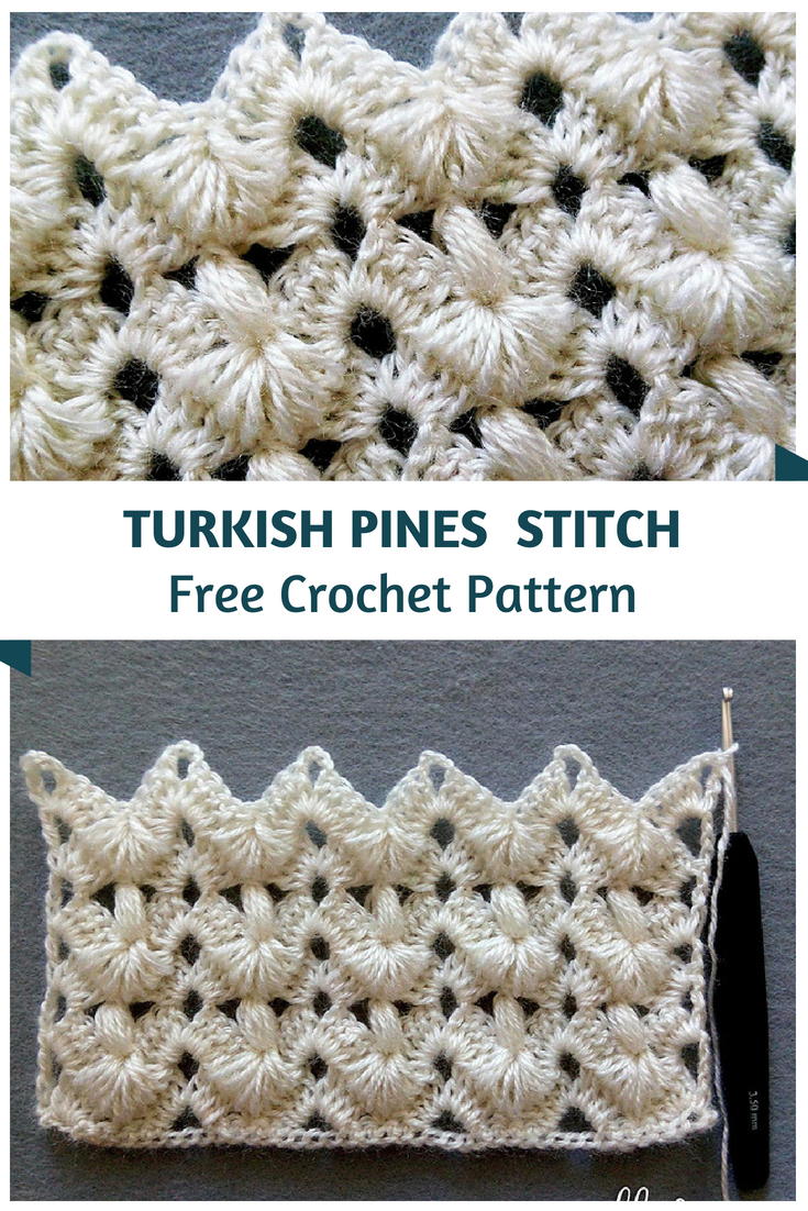Incredibly Beautiful Turkish Pines Crochet Stitch