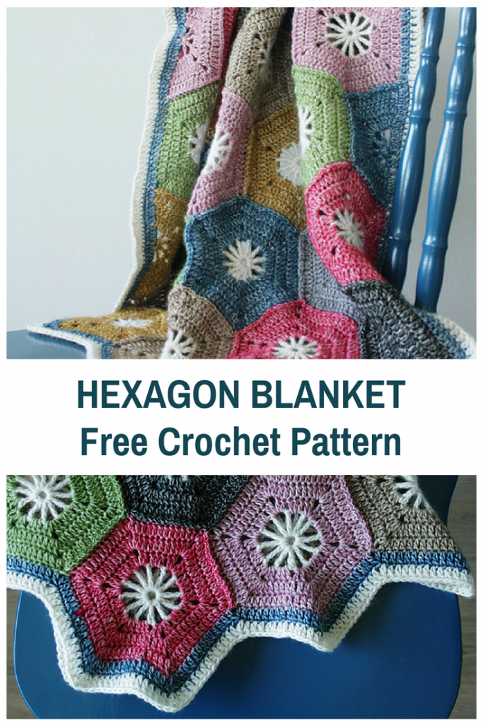 Crochet Hexagon Blanket Free Pattern