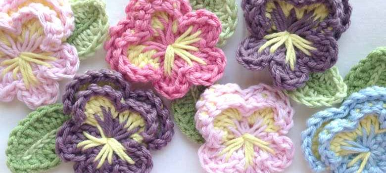 Quick & Easy Crochet Afghan Pansy Pattern