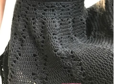 This Crochet Little Black Dress Pattern Is Simple And Beautiful