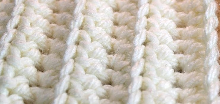 Quick And Easy Ribbed Baby Blanket Crochet Pattern Video Tutorial