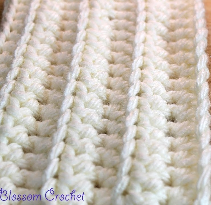 Quick And Easy Ribbed Baby Blanket Crochet Pattern [Video Tutorial ...
