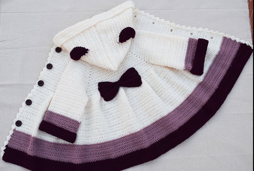 Toddler Girls' Hoodie Cardigan Free Pattern