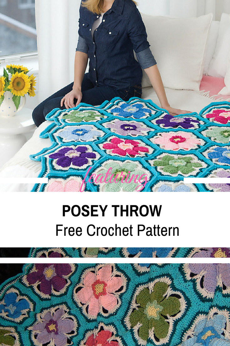 Beautiful Crochet Throw With Floral Design