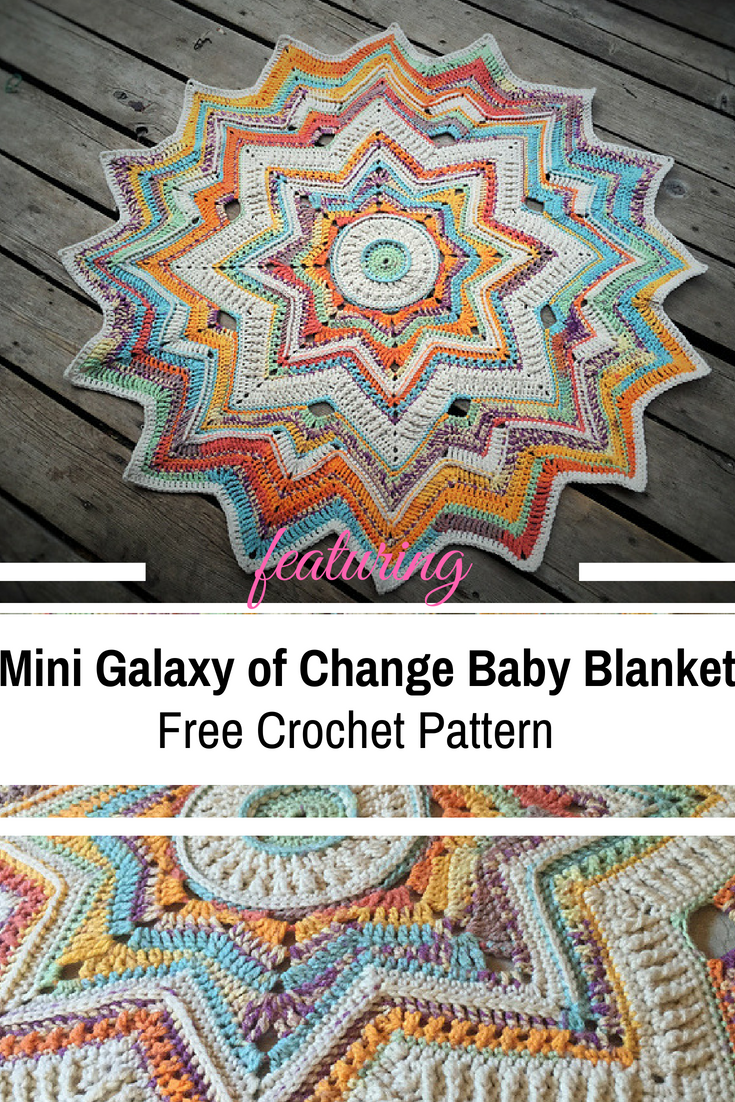 This Awesome Mini Galaxy Of Change Baby Blanket Free Crochet Pattern Is Simply Stunning!