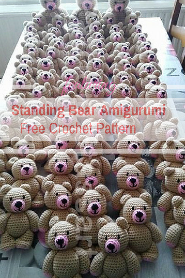 This Adorable Standing Bear Amigurumi Family Is Really Impressive!