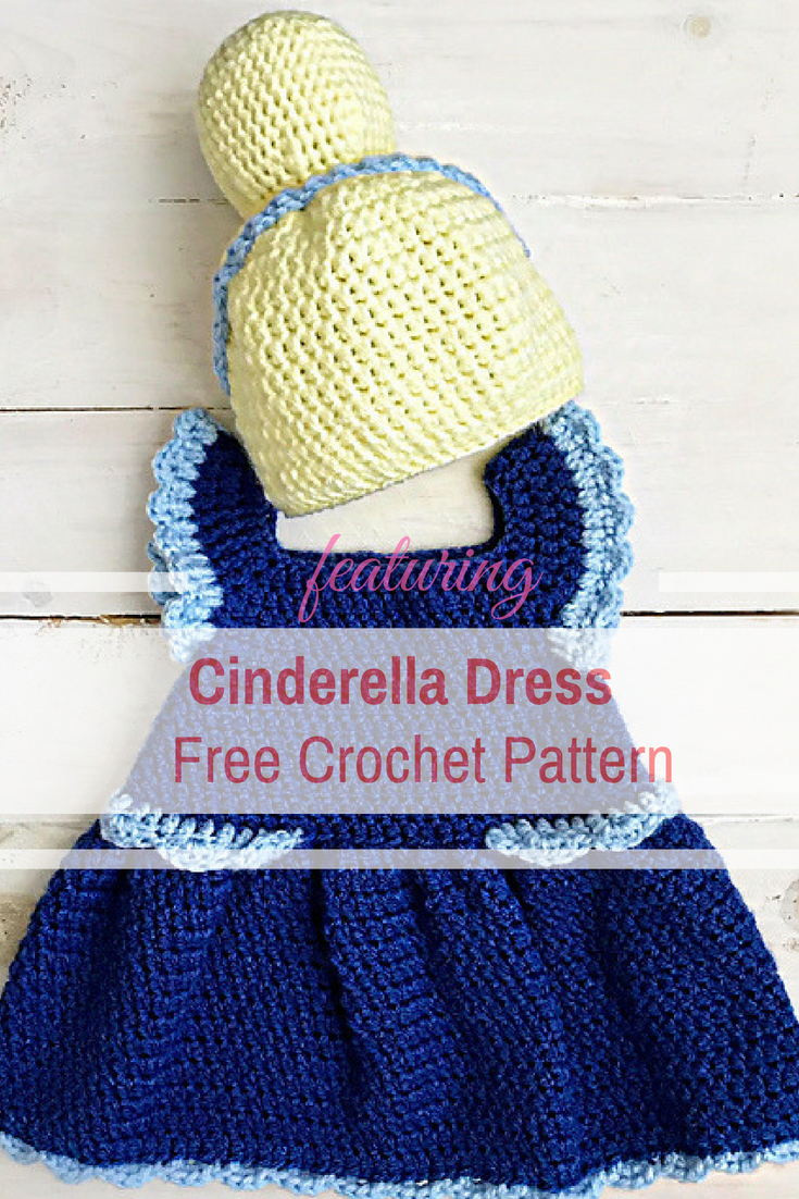 Adorable Baby Cinderella Dress Free Crochet Pattern With Crocheted Wig