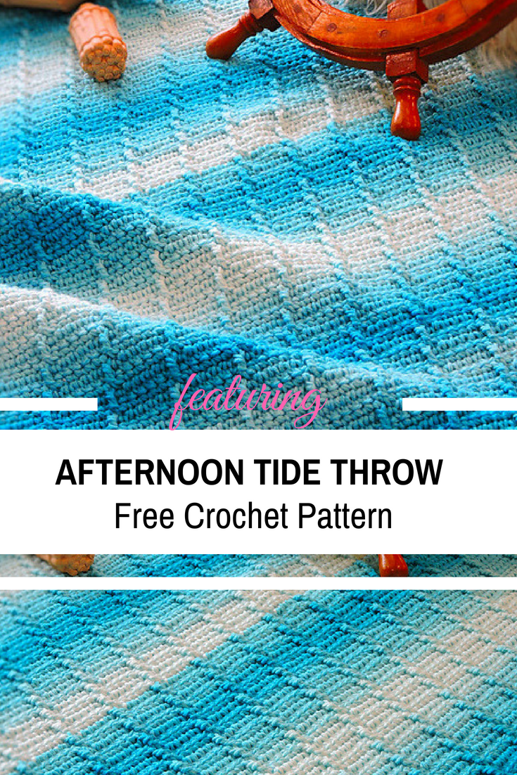 Fabulously Textured Afternoon Tide Throw Crochet Pattern