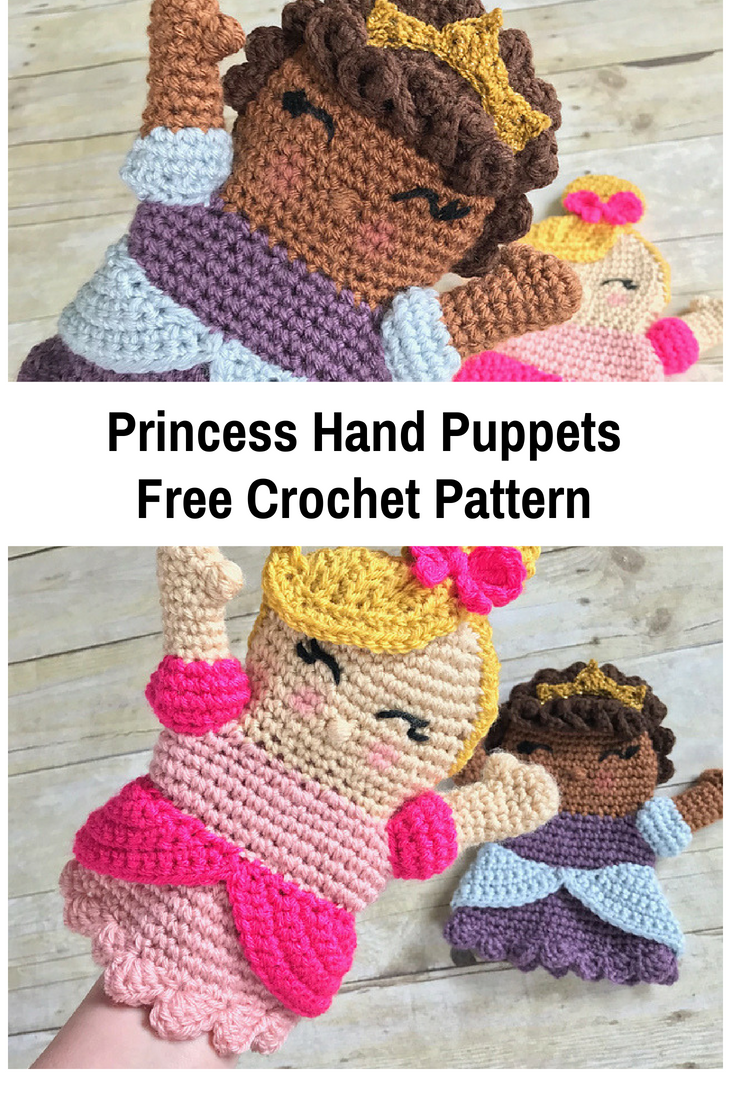 Cute Princess Hand Puppet Free Crochet Pattern Knit And Crochet Daily
