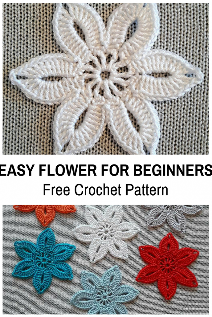 Easy Crochet Flower For Beginners Free Pattern
