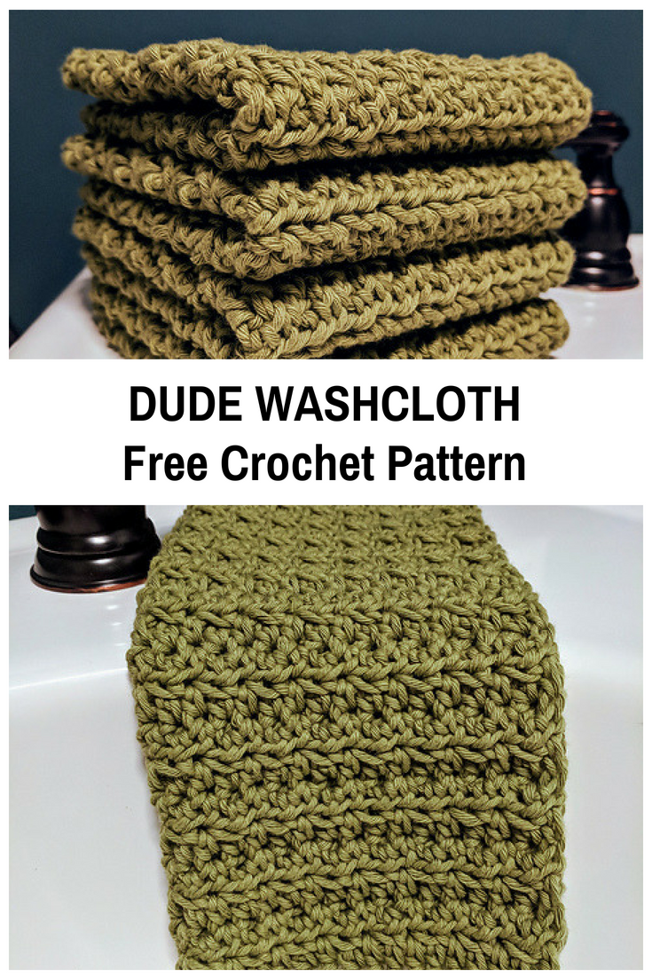 These Crochet Washcloths Are Thick And Great For Cleaning Up Messes [Free Pattern]