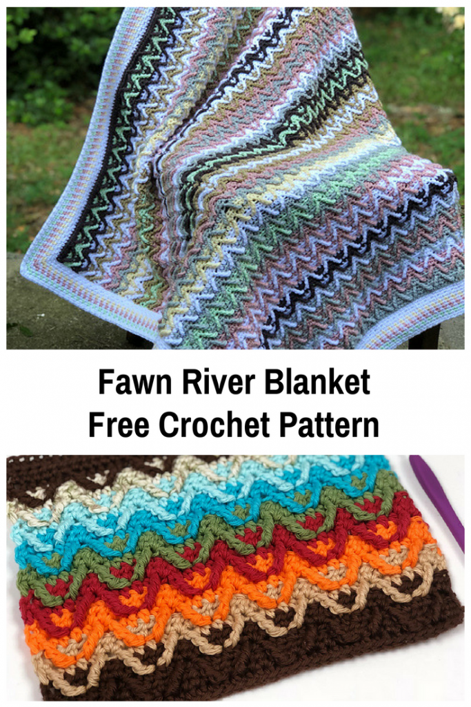 Beautiful Fawn River Blanket Crochet Pattern And Dishcloth With A Lovely Native American Feel