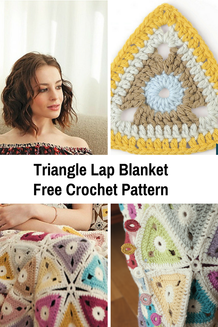 Fabulous Triangle Lap Blanket Free Crochet Pattern With An Amazing Design
