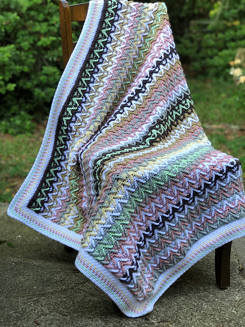 Fawn River Blanket Crochet Pattern And Dishcloth