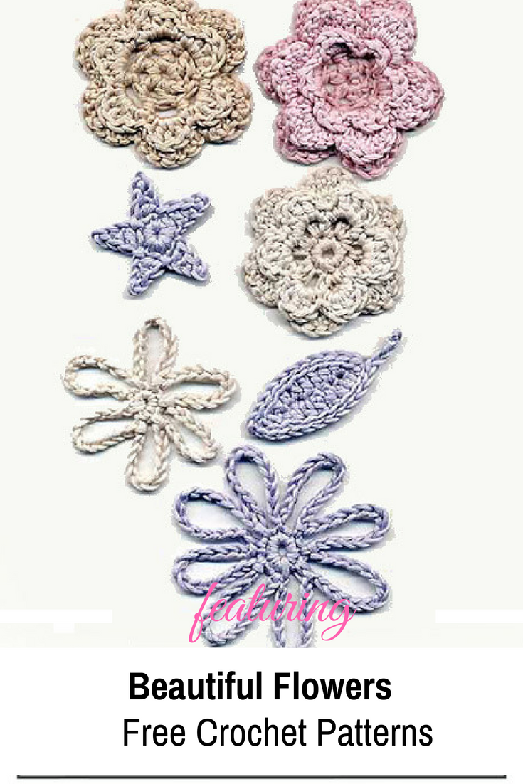 Beautiful Crocheted Flowers Free Patterns Knit And Crochet Daily