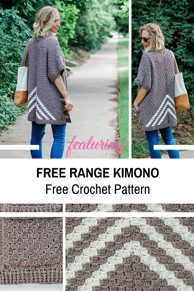 Surprisingly Easy C2C Crochet Kimono Sweater Made From Rectangles -Free Pattern