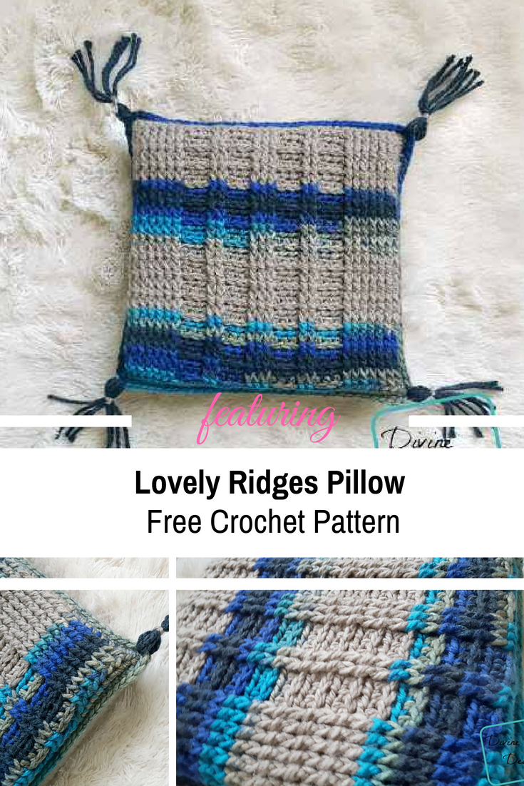 [Free Pattern] Super-Cute And Charismatic Lovely Ridges Pillow