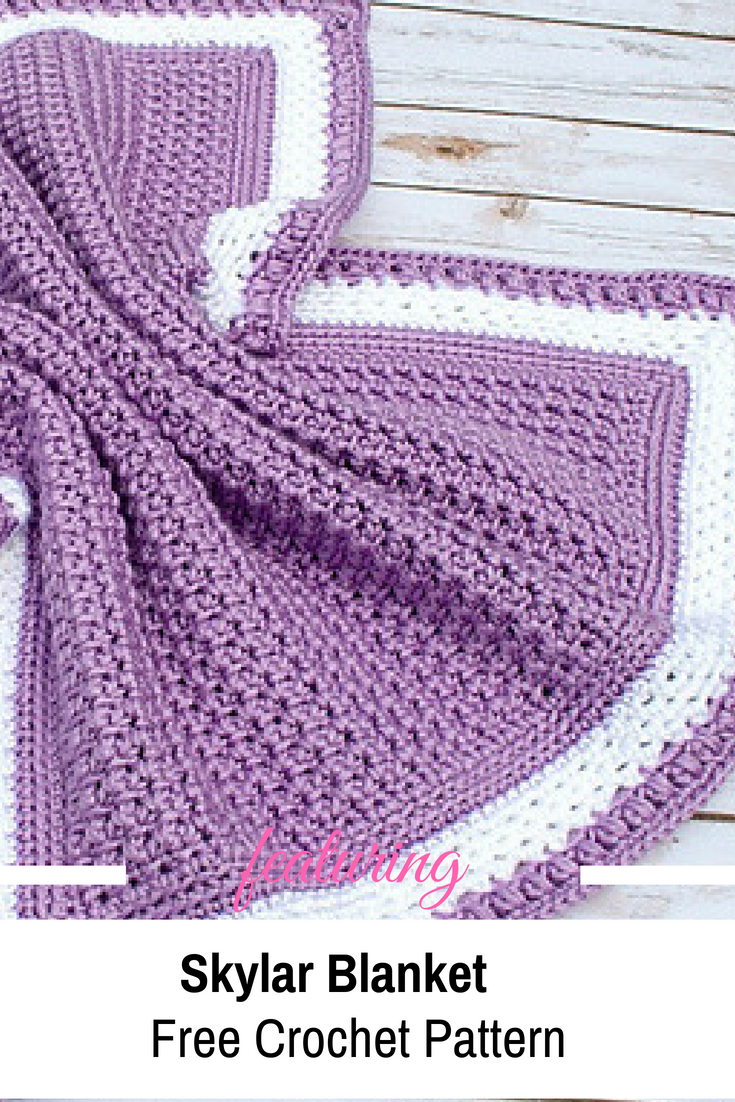Easy One Row Repeat Blanket Free Crochet Pattern