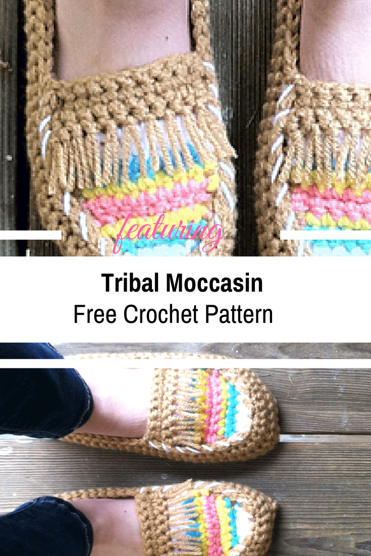 Simply Gorgeous Crochet Tribal Moccasin Tutorial