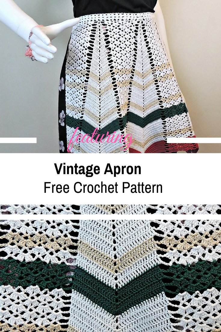 Vintage Crochet Apron Pattern For Happy People [Free Pattern]