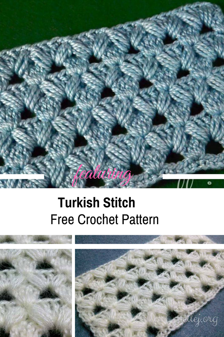 Turkish Crochet Stitch Free Pattern & Video Tutorial