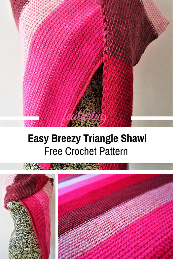 Easy Breezy Triangle Shawl For Chilly Days [Free Crochet Pattern]