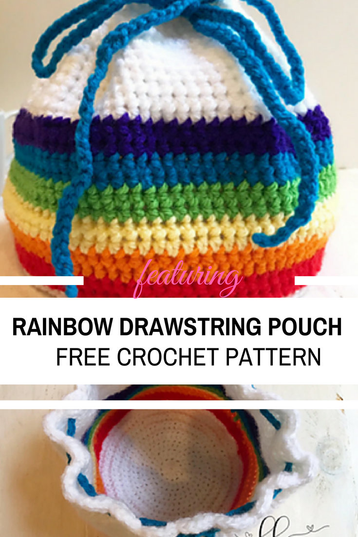 Practical And Useful Rainbow Drawstring Pouch For Busy Moms