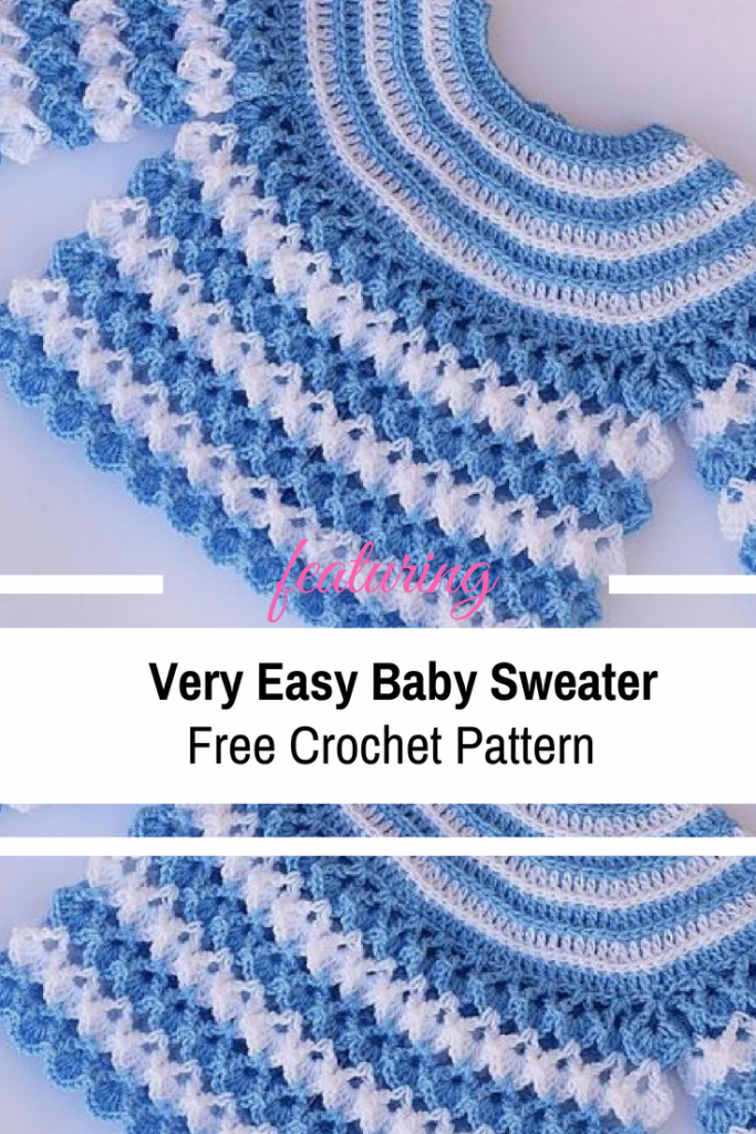 Very Easy Free Baby Sweater Crochet Pattern