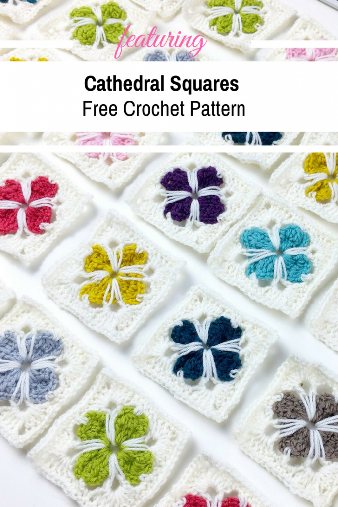 [Video Tutorial] How To Crochet Cathedral Squares
