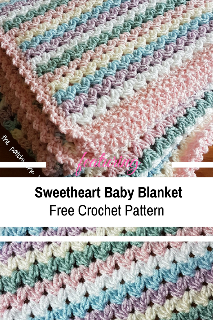 [Free Pattern] Simple And Easy Sweetheart Baby Blanket Crochet Pattern