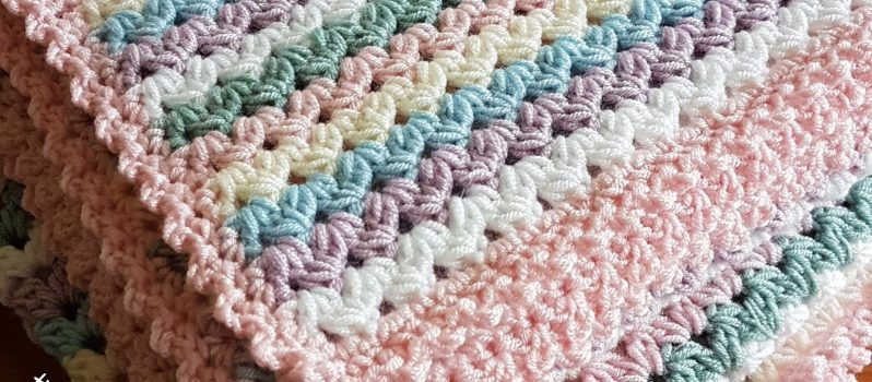 Free Pattern Simple And Easy Sweetheart Baby Blanket Crochet