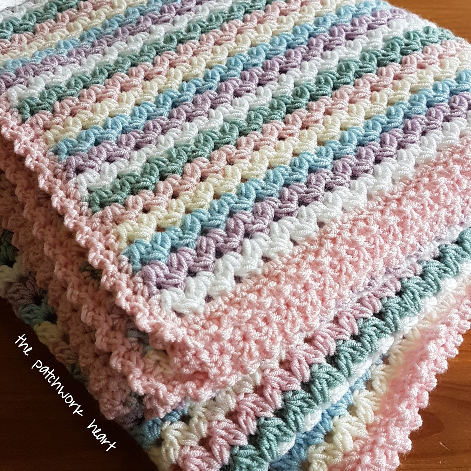 Free Pattern Simple And Easy Sweetheart Baby Blanket