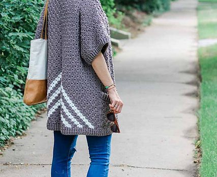 Surprisingly Easy C60C Crochet Kimono Sweater Made From Rectangles Amazing C2c Crochet Pattern Rectangle
