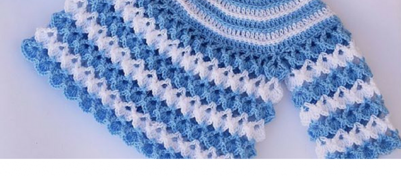 Very Easy Free Baby Sweater Crochet Pattern - Knit And