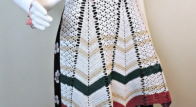 Vintage Crochet Apron Pattern For Happy People Free Pattern Knit