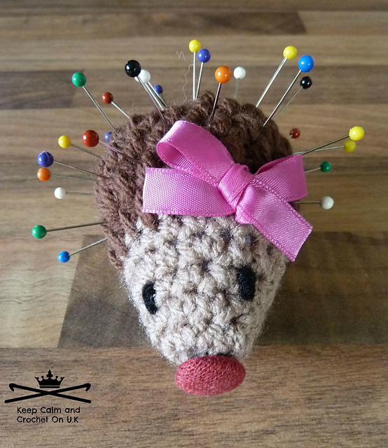 Most Adorable Crochet Hedgehog Pincushion Pattern