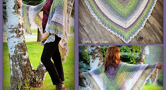 Amazing Grace Angel Wing Shawl Free Crochet Pattern Is All About